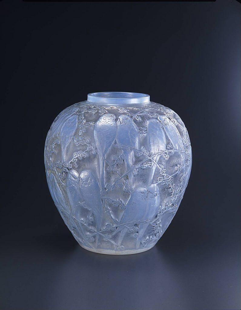 作品画像:花瓶《インコ》