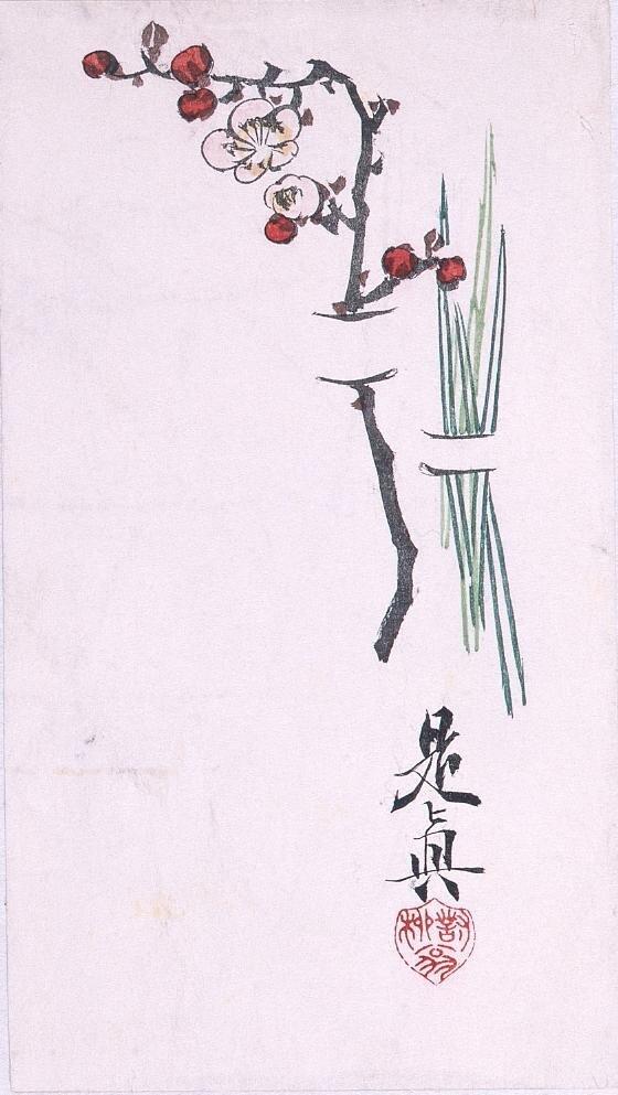 作品画像:多色刷 梅枝