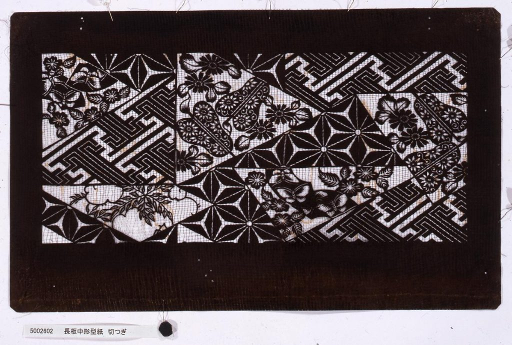 作品画像:長板中形型紙 切つぎ