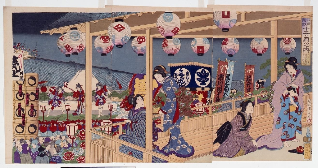 作品画像:江戸風俗十二ヶ月 十一月