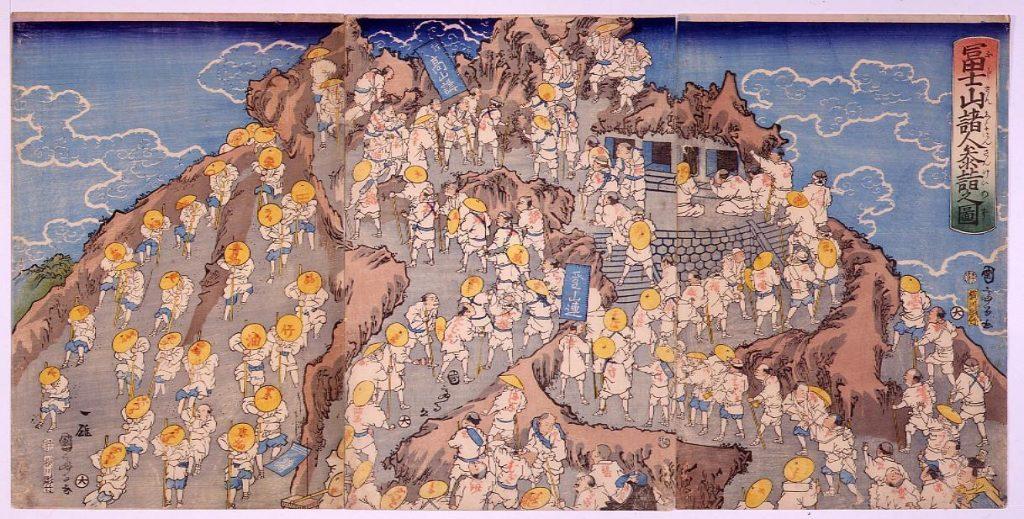 作品画像:冨士山諸人参詣之図