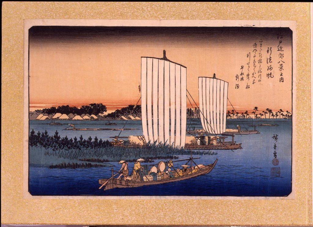 作品画像:江戸近郊八景 行徳帰帆