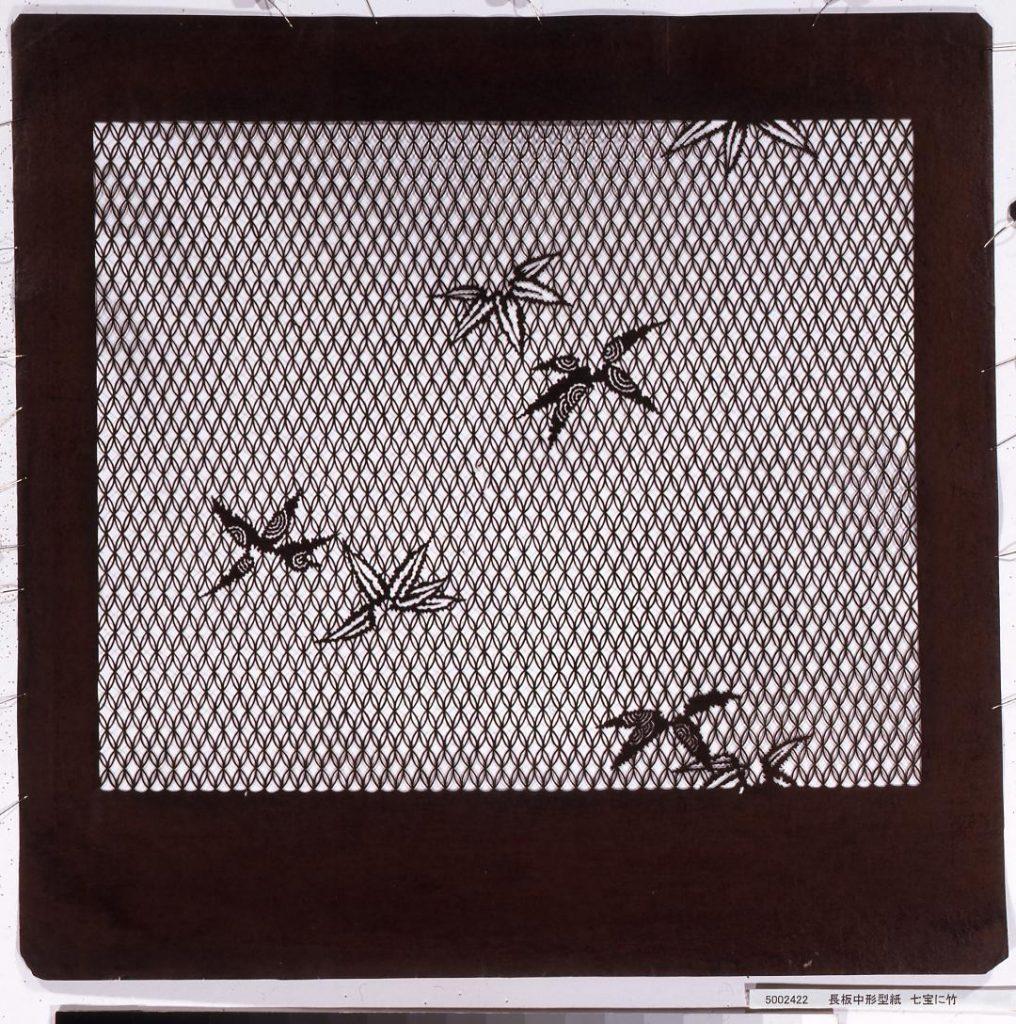 長板中形型紙 七宝に竹
