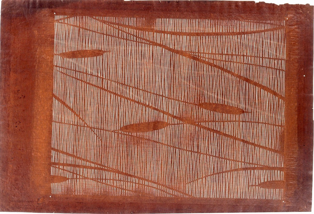 作品画像:長板中形型紙 がまの穂