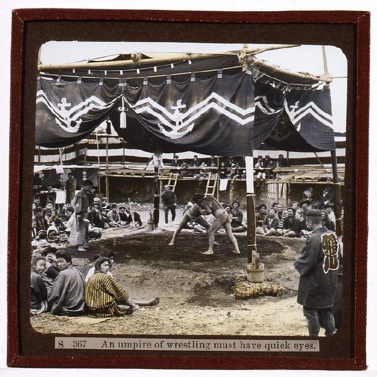作品画像:相撲取組み