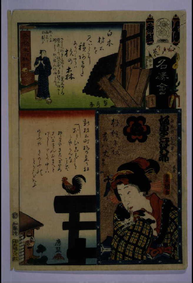 作品画像:江戸の花名勝会 は 一番組