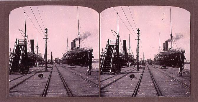 作品画像:港の汽船(No.43)