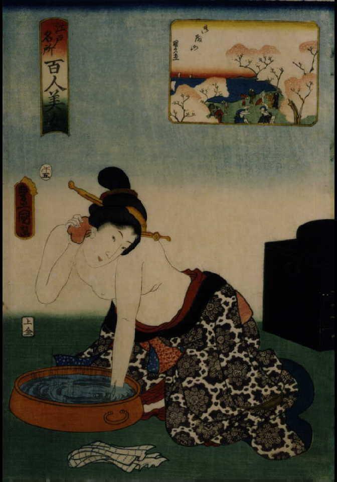 作品画像:江戸名所百人美女 御殿山