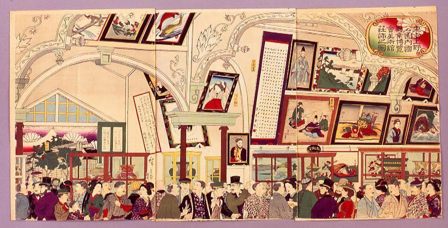 作品画像:東京上野公園内国勧業博覧会美術館荘飾之図