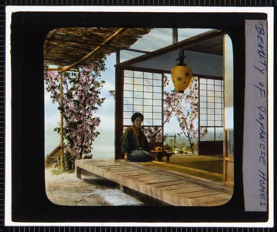 作品画像:日本家屋(幻燈原板)