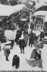 作品画像:十日町の雪季市