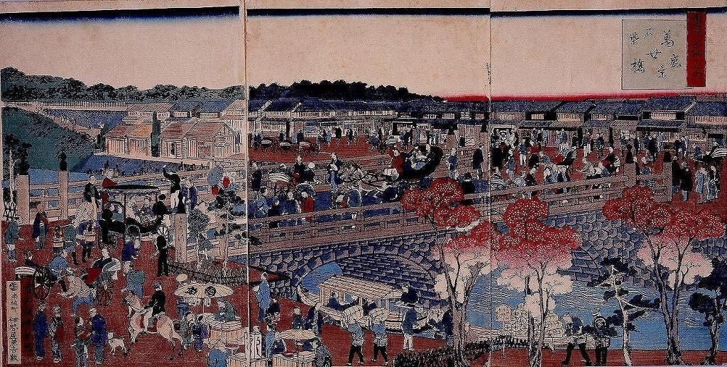 作品画像:東京名所之内 石築万世橋盛景