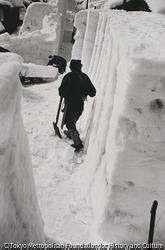 作品画像:町中の除雪作業