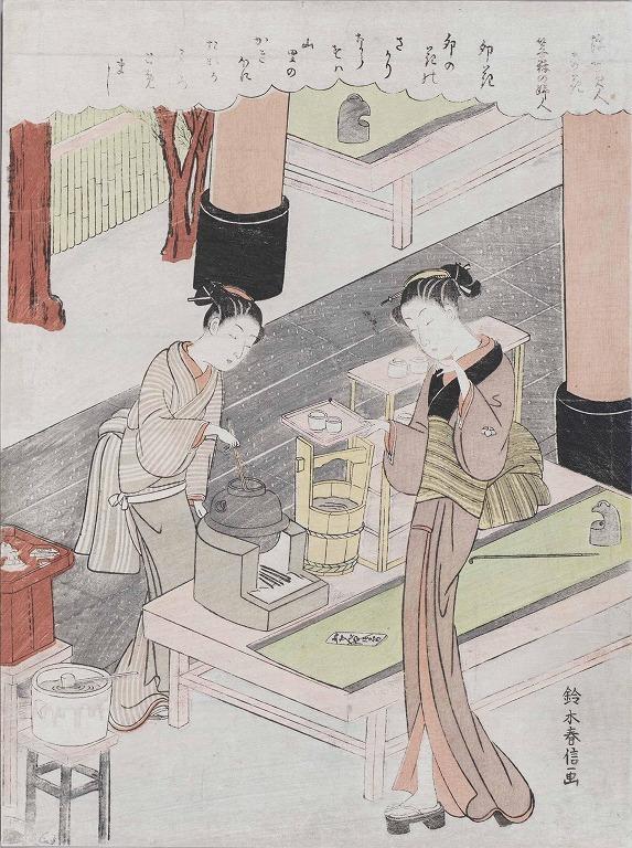 作品画像:浮世美人寄花 笠森の婦人 卯花 (鍵屋お仙)