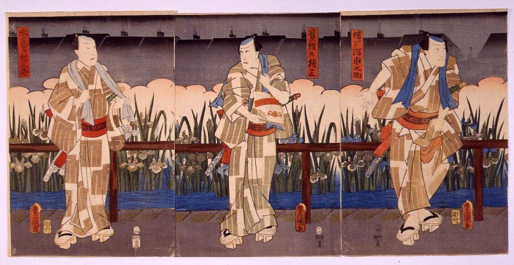 作品画像:花菖蒲五色全盛 水巻乃紀三郎