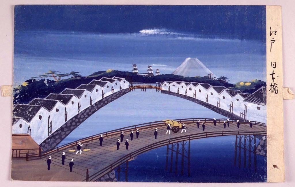 作品画像:泥絵 江戸日本橋