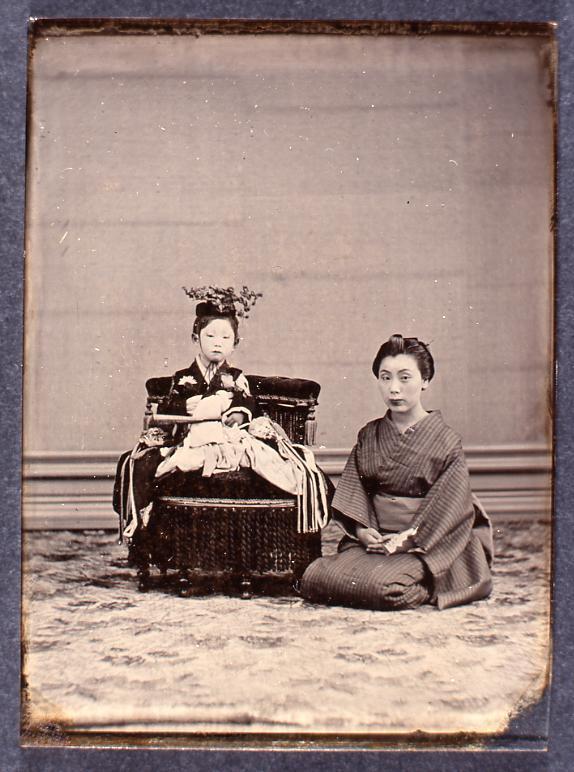 作品画像:女性と少女