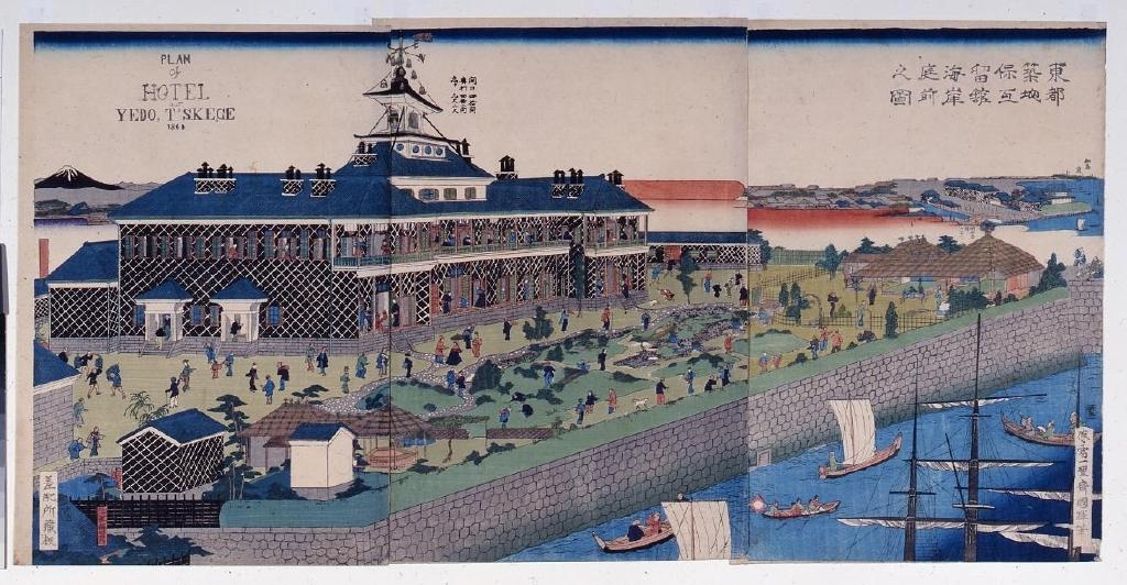 作品画像:東都築地保丁留館 海岸庭前之図