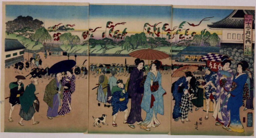 作品画像:江戸風俗十二ヶ月 七月