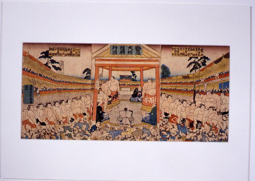 作品画像:勧進大相撲興行図