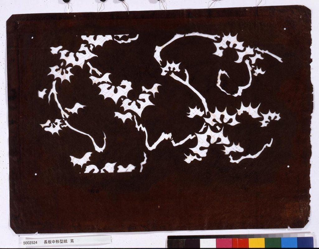 作品画像:長板中形型紙 蔦