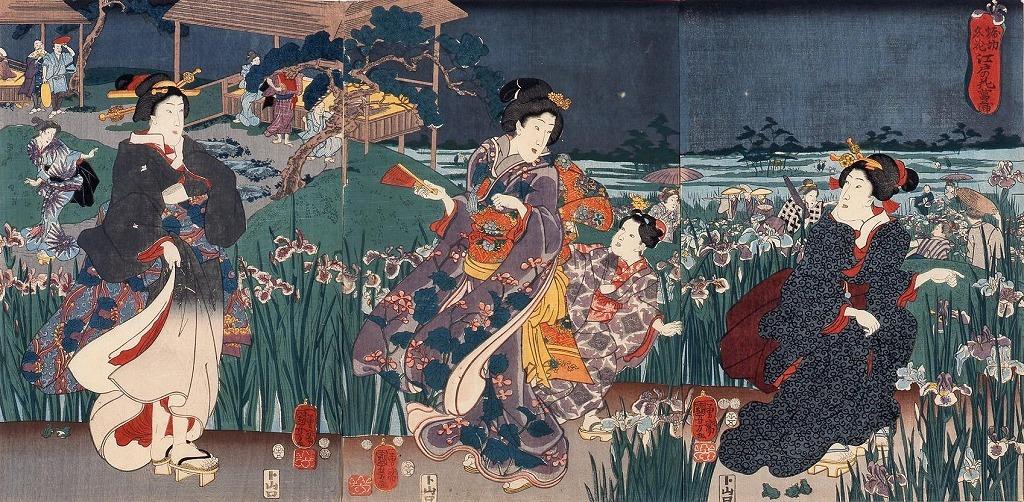 作品画像:堀切名花 江戸の花菖蒲