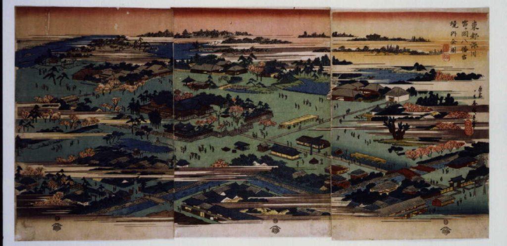 作品画像:東都深川富ヶ岡八幡宮境内全図