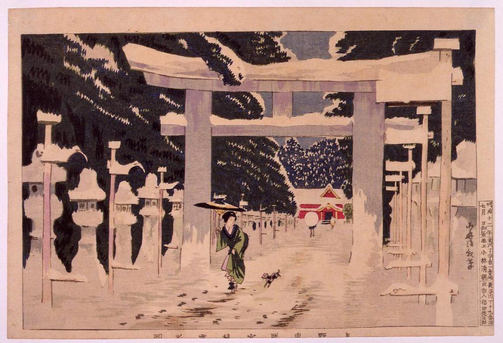 作品画像:上野東照宮積雪之図
