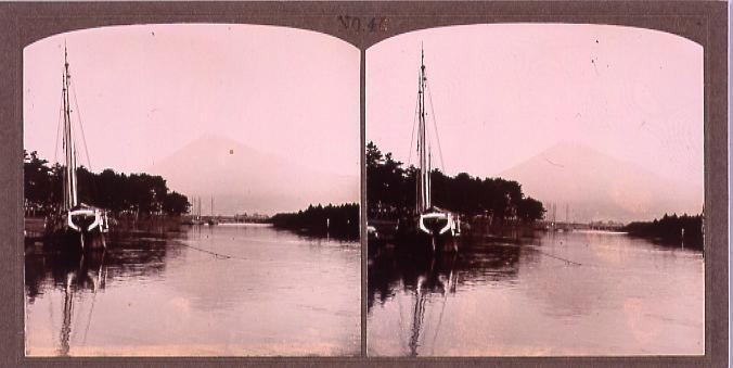 作品画像:湖にうつる富士山(No.45)