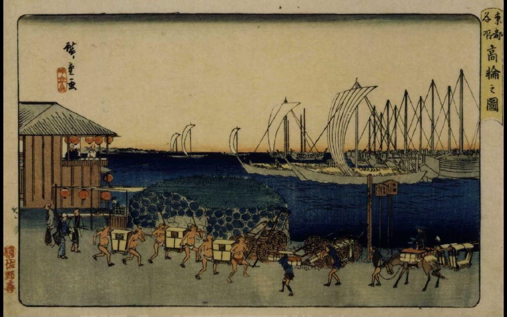 作品画像:東都名所 高輪之図