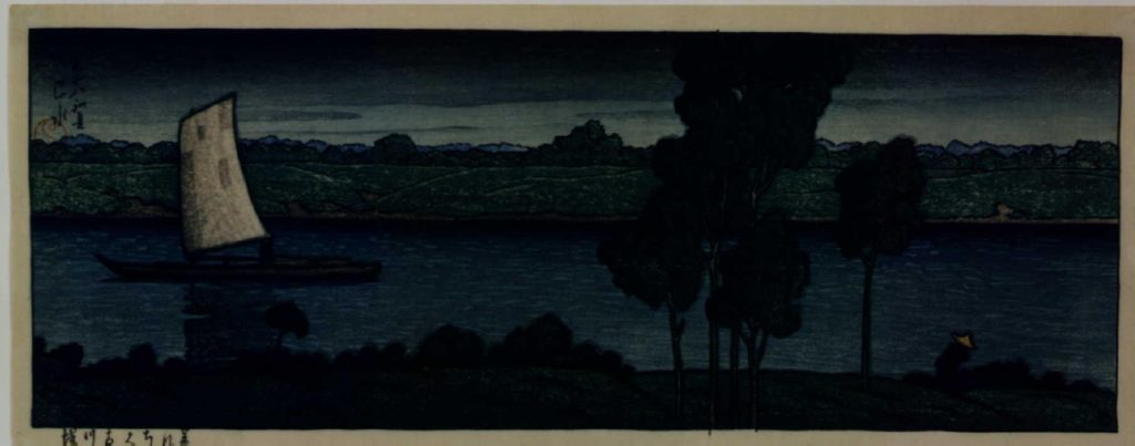 作品画像:暮れゆく古川堤