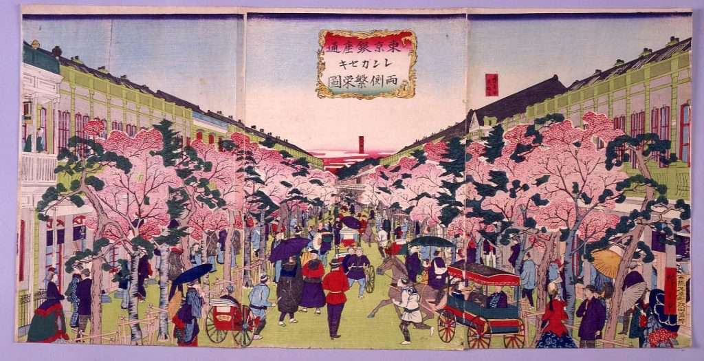 作品画像:東京銀座通レンガセキ両側繁栄図