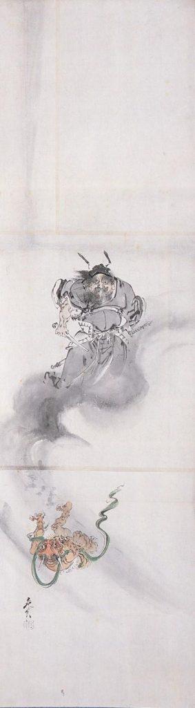 作品画像:粉本 鍾馗と鬼