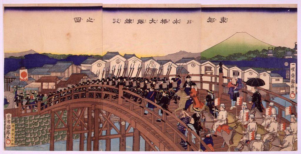 作品画像:東都日本橋大隊練行之図