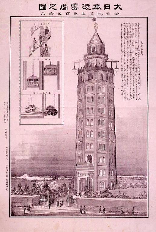 作品画像:大日本凌雲閣之図 十二階直立二百二十尺