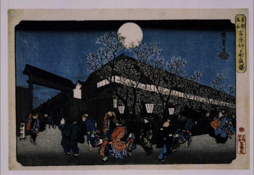 作品画像:東都名所 吉原仲之町夜桜