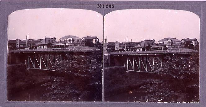 作品画像:神田御茶水橋の市電(No.235)