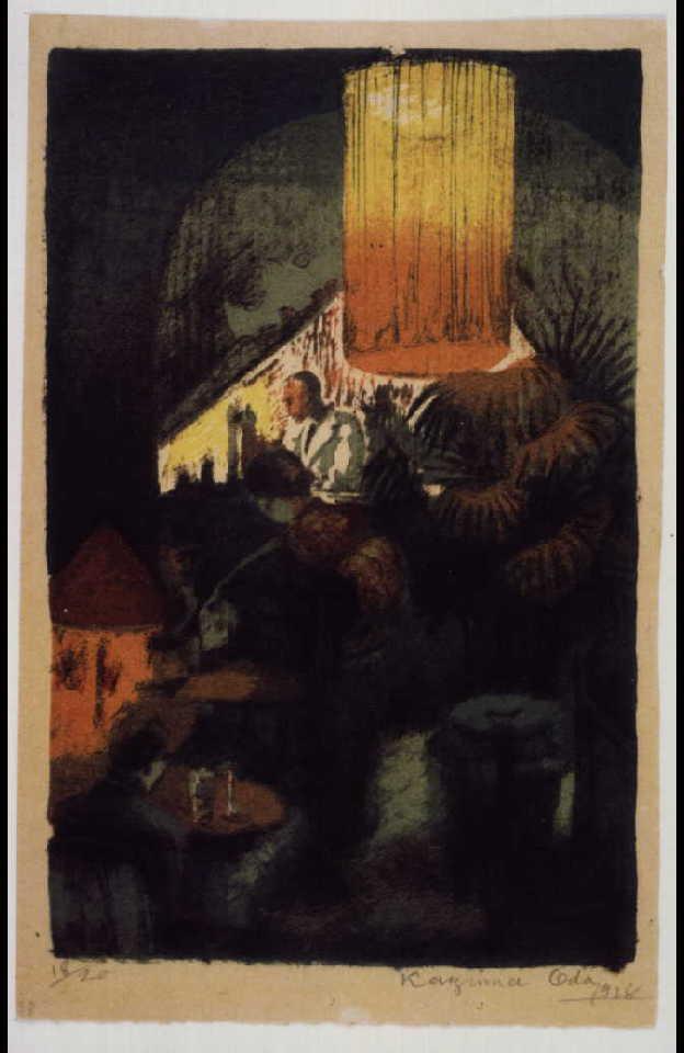 作品画像:画集 銀座 第1輯 第一図 酒場フレデルマウス