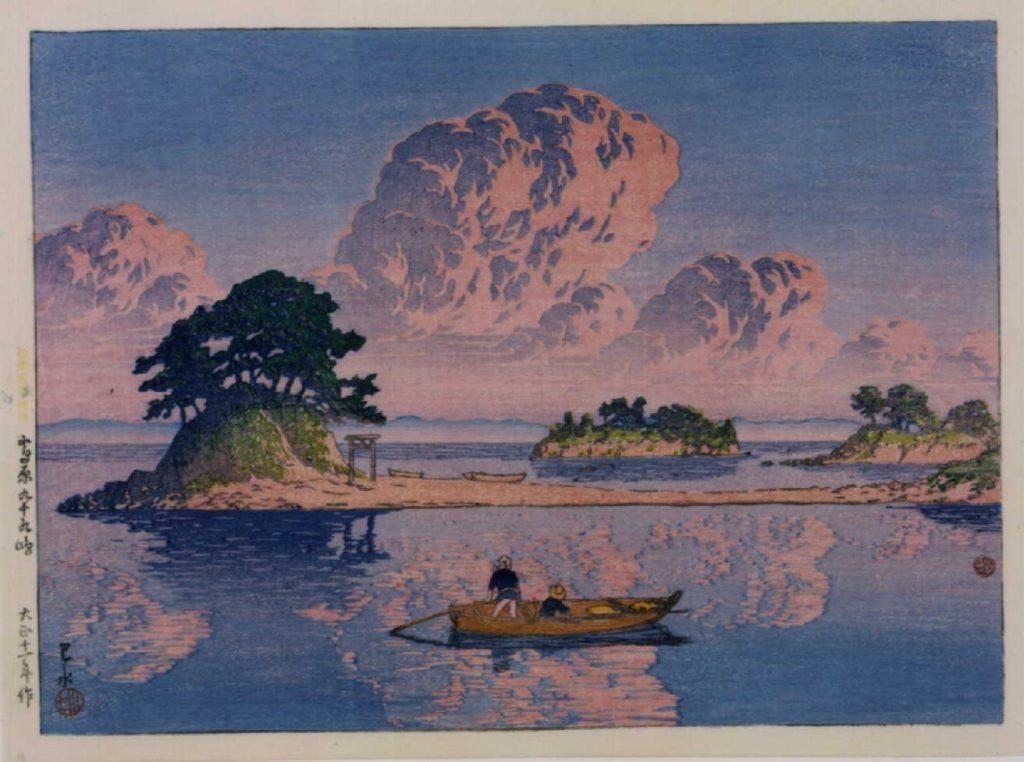 作品画像:日本風景選集 十八 島原九十九島