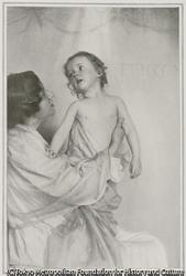作品画像:母子、プラチノタイプからの複製
