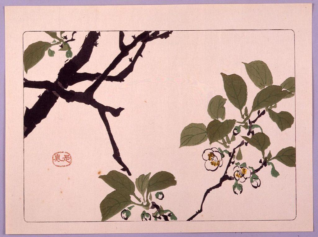 作品画像:リンゴの花図