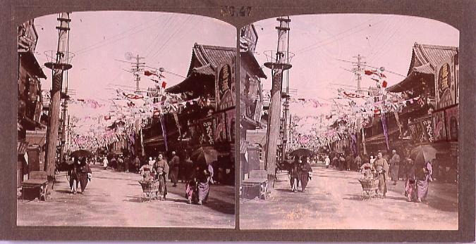 作品画像:商店の並ぶ通り(No.47)