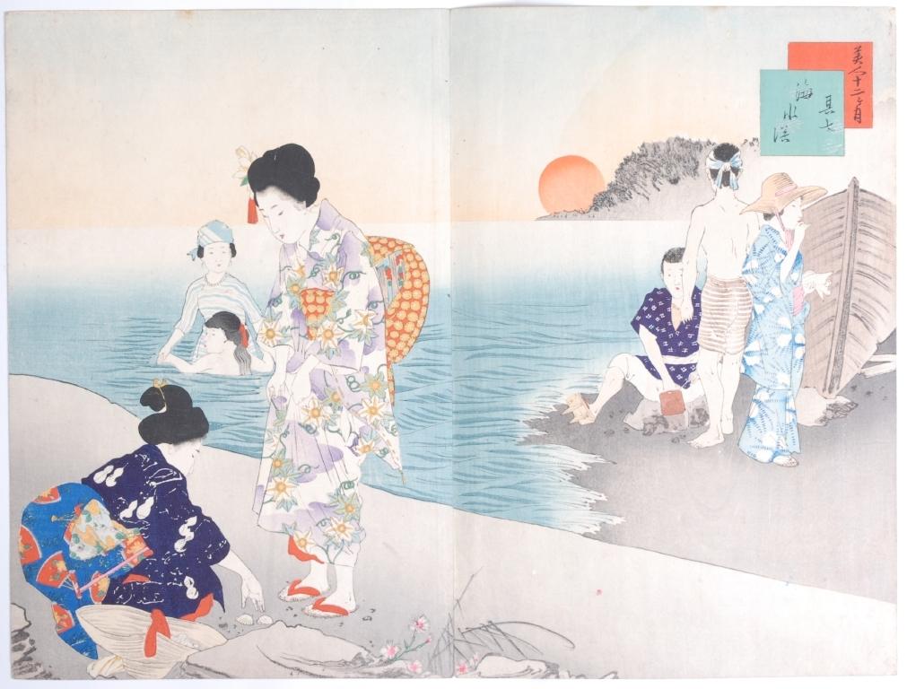 作品画像:美人十二ヶ月 其七 海水浴