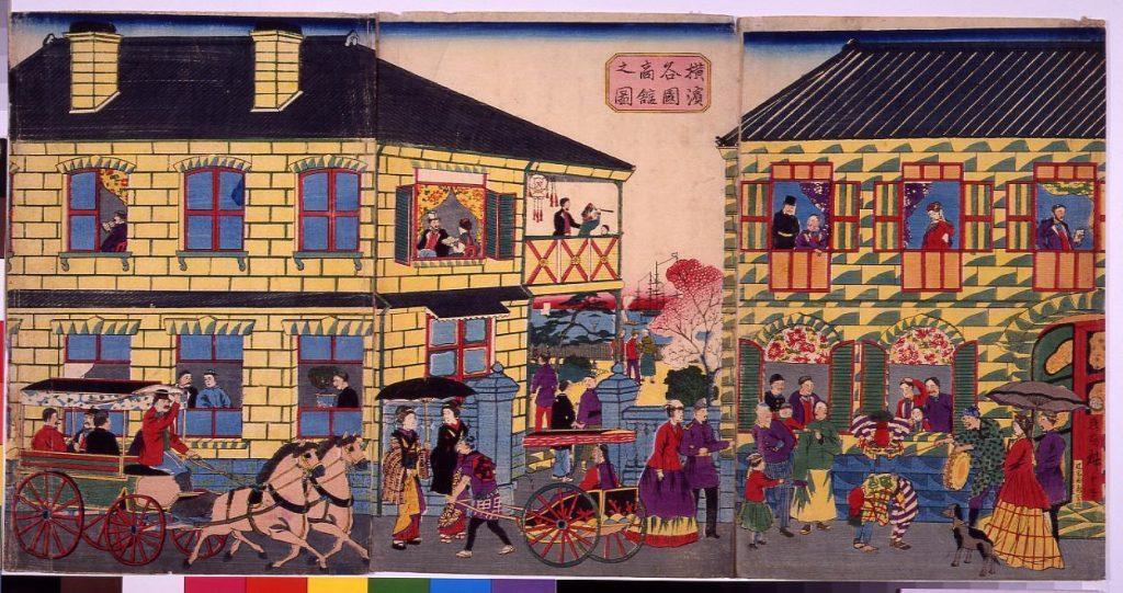 作品画像:横浜各国商館之図