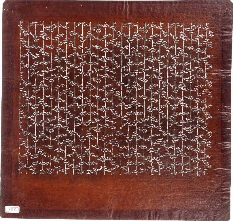 長板中形型紙 竹
