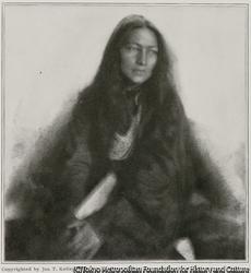 作品画像:先住民の少女の習作