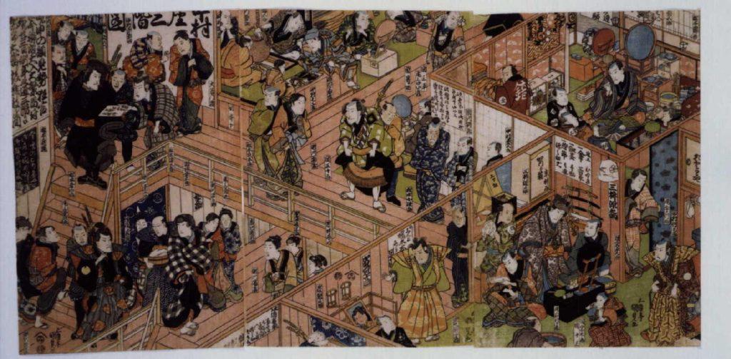 作品画像:中村座三階図