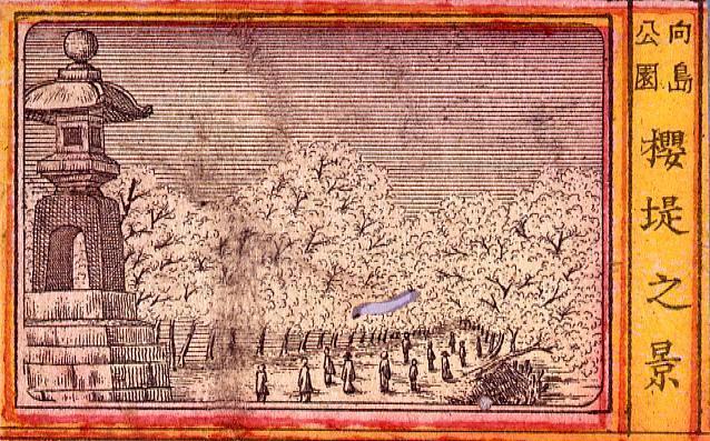 作品画像:向島公園 桜堤之景