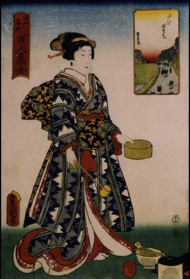 作品画像:江戸名所百人美女 いひ田まち