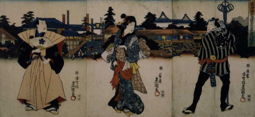 作品画像:武州埼玉郡野島地蔵尊於湯島天神境内開帳図